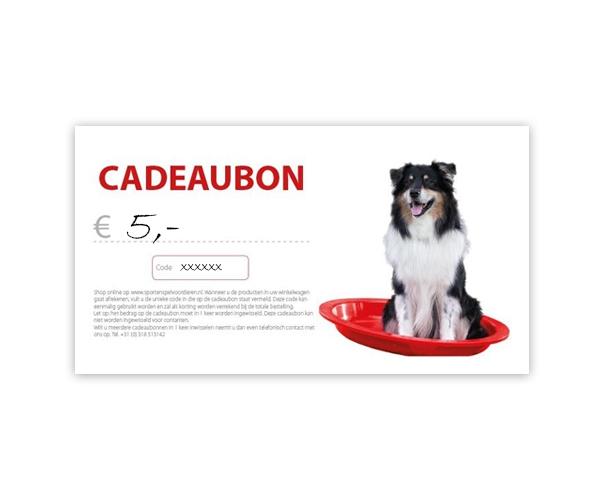Cadeaubon - € 5